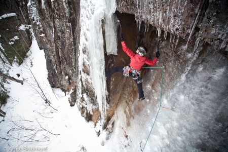 Guest Guide Majka Burhardt getting thin and scrappy! Photo: Anne Skidmore