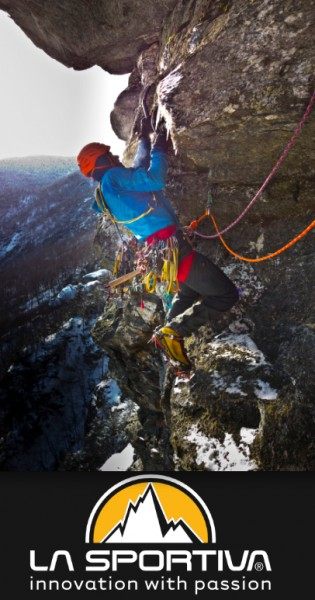 Matt McCormick on the first free ascent of 'Post Nasal Drip' in Smuggler's Notch (M7 WI4+)